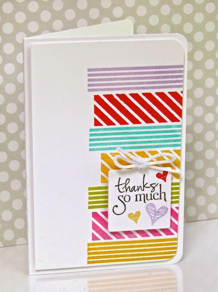 Simple handmade card using washi tape.