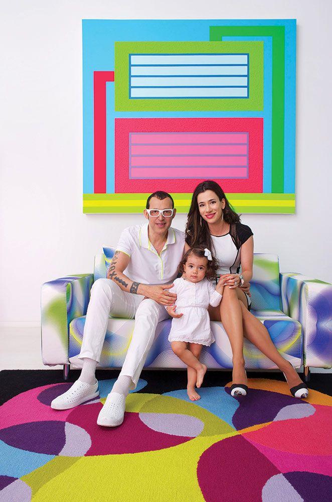 Karim Rashid con su esposa Ivana y su hija Kiva. | Galería de fotos 2 de 8 | AD MX