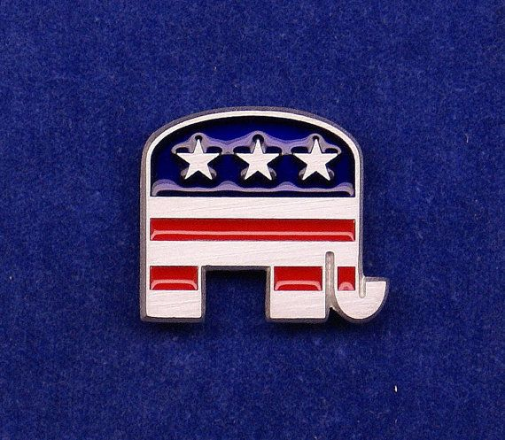 Stars & Stripes Republican Party Elephant Flag by OnTargetJewelry, $17.99