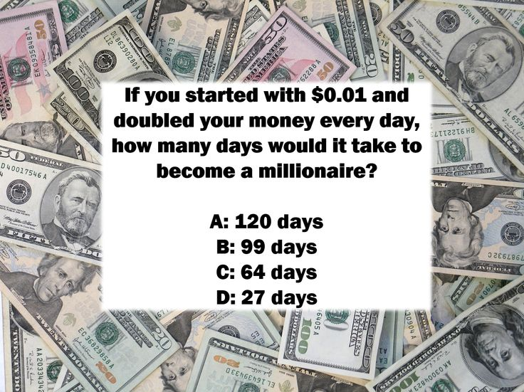 National Trivia Day Question: If you started with $0.01 ...