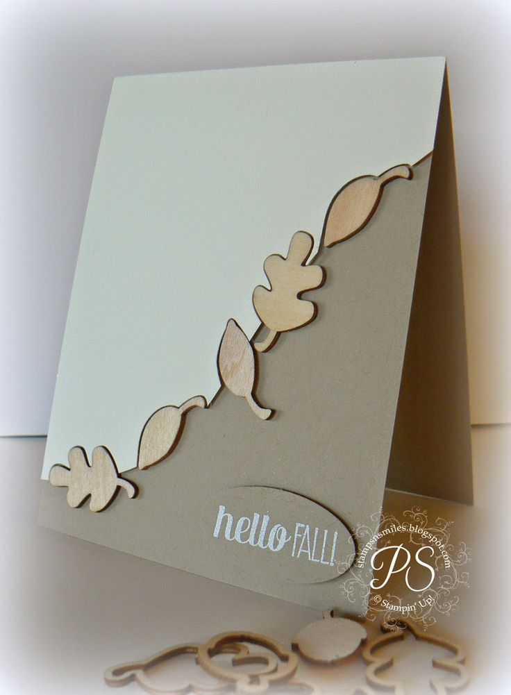 Love how these Autumn Wooden Elements fit into the Fall Fest Framelit leaves - thanks Stampin' Up!