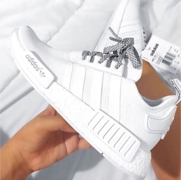 Adidas NMD R1 White Running Sport Casual Shoes Sneakers in