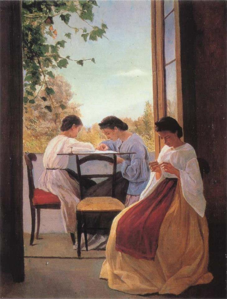 Le Ricamatrici by Adriano Cecioni 1866