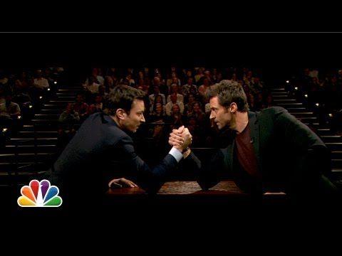"The Tonight Show Starring Jimmy Fallon ""Jimmy Fallon and Hugh Jackman Arm Wrestle"""
