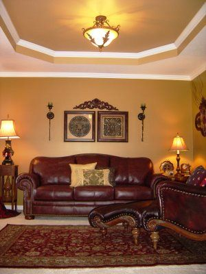 Gold Walls With Burgundy Leather Google Search Living Room Color Schemes Pinterest And