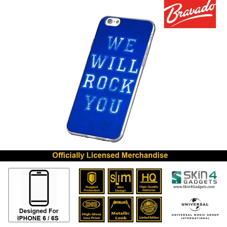 Buy Queen We Will Rock You Edition Mobile Cover & Phone Case For IPhone 6s Plus 6 Plus at lowest price online in India only at Skin4Gadgets. CASH ON DELIVERY AVAILABLE