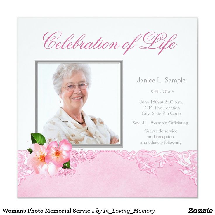 Best Funeral Invitations Announcements Images On