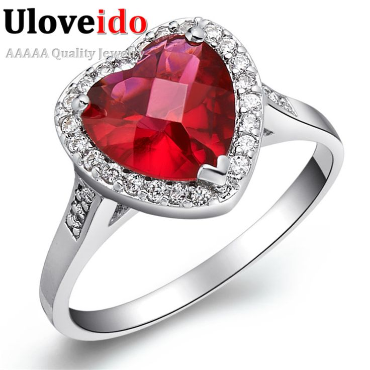Find More Rings Information about Uloveido Fashion Silver Rings Woman Wedding…