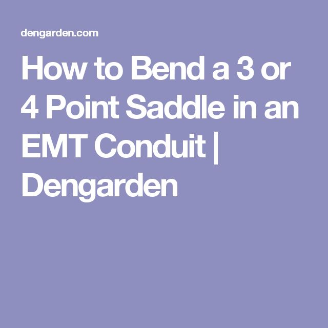 21 best emt conduit fittings images on pinterest electrical how to bend a 3 or 4 point saddle in an emt conduit keyboard keysfo Image collections