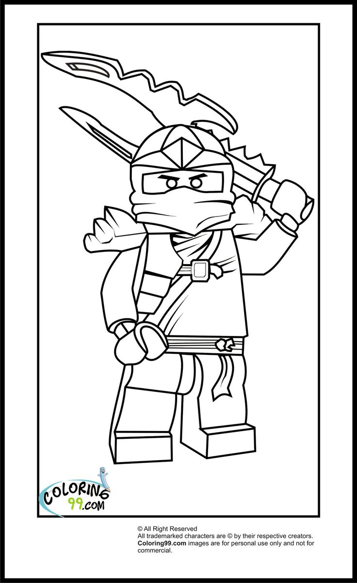 Lego Ninjago Coloring Pages Cole 39 s