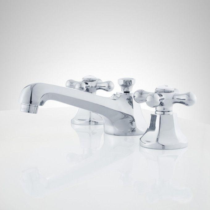 New York Widespread Bathroom Faucet Cross Handles Widespread