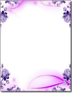 """Our Purple Passion Floral stationery paper measures 8 1/2"""" x 11"""" and is made from a high quality 28lb Bond paper stock. Description from desktopsupplies.com. I searched for this on bing.com/images"""