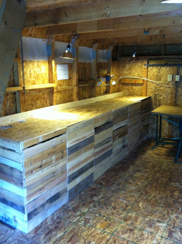 Farmstand Using Pallet Wood Farm Diy Projects In 2019