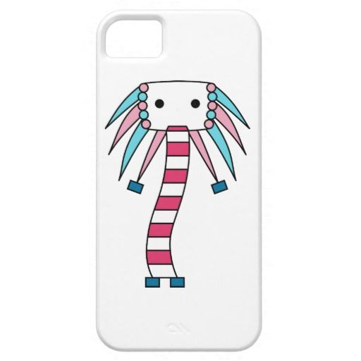 Colorful kawaii / cute character cases in blue and pink. Available for iPhone/iPad and other smartphones. Personalize by adding your own text, change the background as well as scale/position the design to your liking.