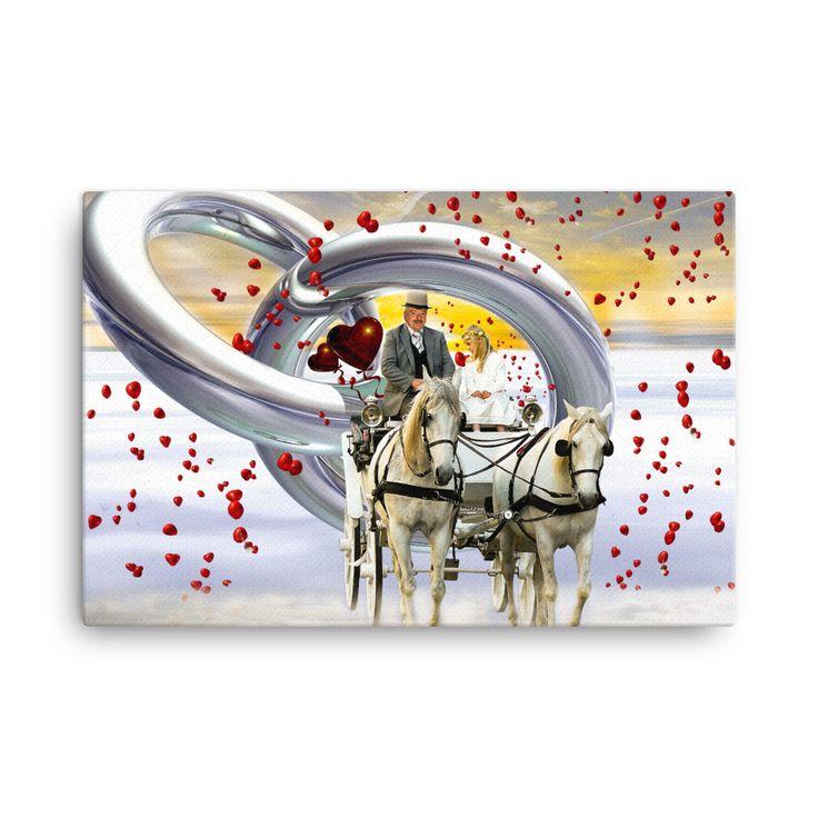Wedding love canvas