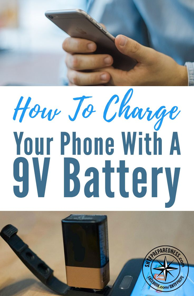 How to Charge Your Phone With a 9V Battery - I have many of these batteries just laying around. I haven't needed a 9v battery in years. This works well (I just tried it) my new iPhone 6 plus went from 2% to 11% in 16 mins. Not to shabby, huh?
