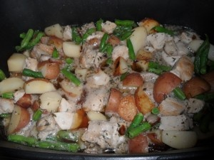 Summer Beans and Potatoes - easy crock pot meal