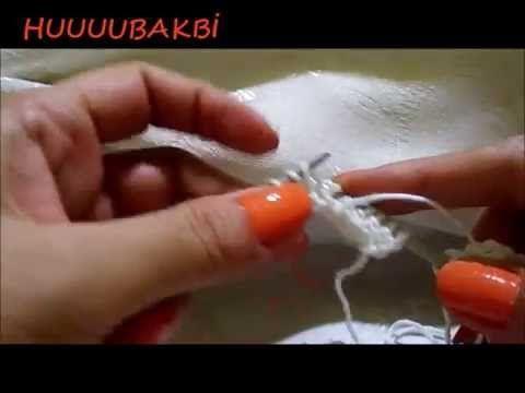 düz örgüde kıvrılma olmaması için uygulanan örgü tekniği - YouTube