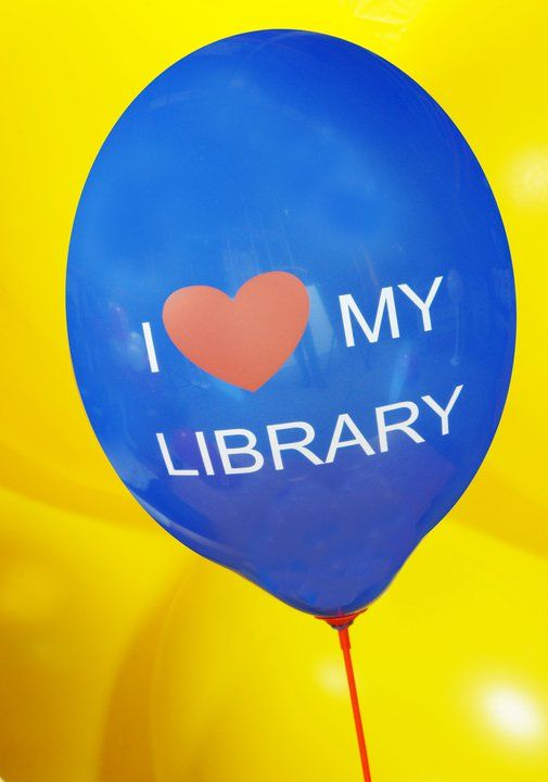 I love my library #BalloonsPrinting