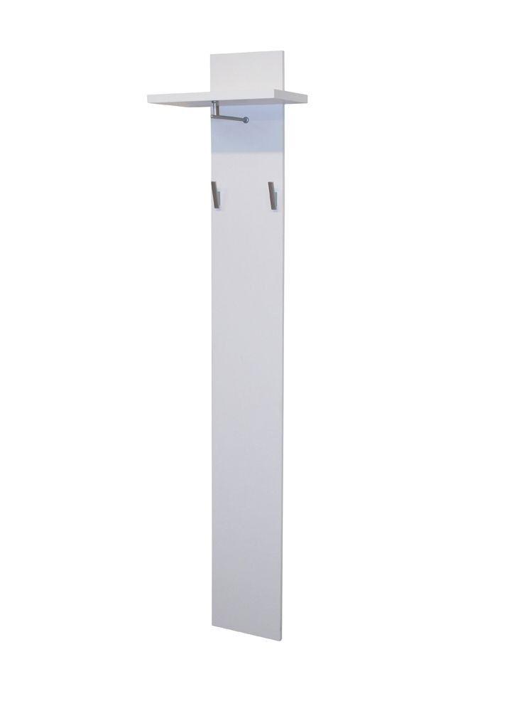 Garderobenpaneel Color 0911 Wandgarderobe Weiß Matt 7565. Buy now at https://www.moebel-wohnbar.de/garderobenpaneel-color-0911-wandgarderobe-weiss-matt-7565