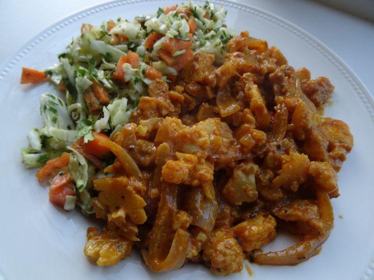 Bloemkool curry - Het recept vind je op http://www.coachinge.nu/bloemkool-curry/