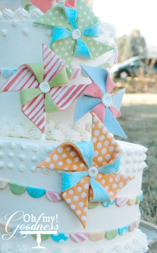 Pinwheels & bunting cake for new year's. Had so much fun making these with my girls.