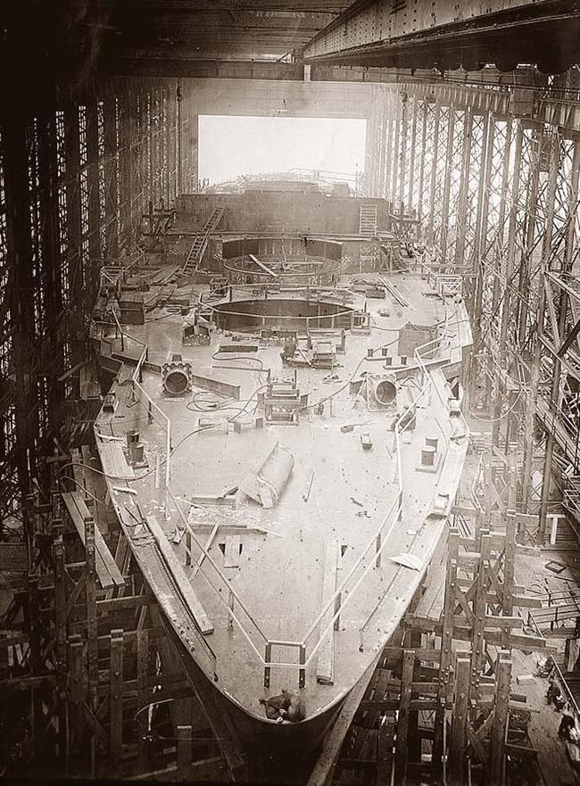 """""""US battleship USS Arkansas, under construction in Camden, NJ, 1910. It was later destroyed by a nuclear bomb [650 × 881]"""" by WowDidYouSeeThis in HistoryPorn"""