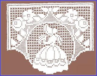 MIRIA CROCHÊS E PINTURAS: BANDÔ EM CROCHÊ FILÉ com esquema: Lace Crochet, Bandô Ems, Filet Crochet Charts, Flowers Girls, Rub Crochês, Ems Crochê, Filet Crochet, Painting Ems, Crochet Filet