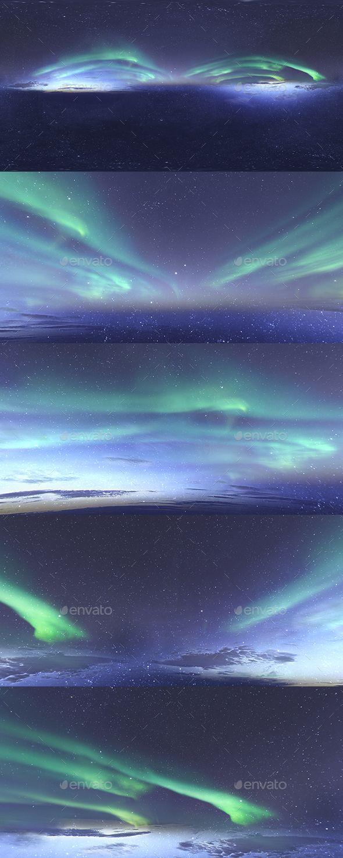 Skydome HDRI - Northern Lights and Stars #HDRI, #Skydome