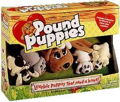 Pound Puppies!!  I had the Mama, and when you unzipped her stomach all the babies came out