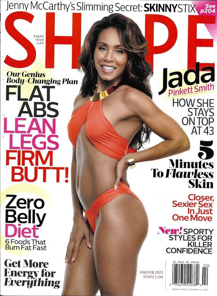Shape Magazine Jada Pinkett Smith Weight Loss Flat Abs Energy Skincare Food 2015