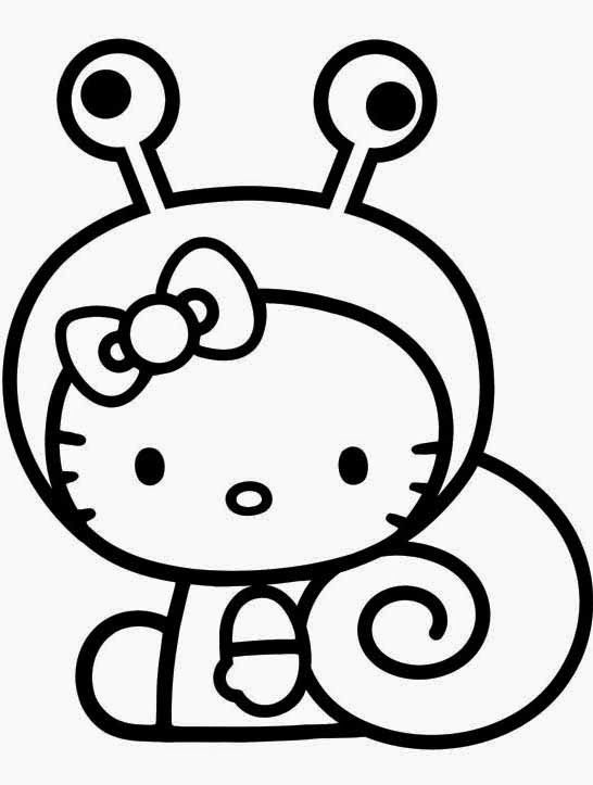 Hello Kitty Wearing Ribbons Coloring Page