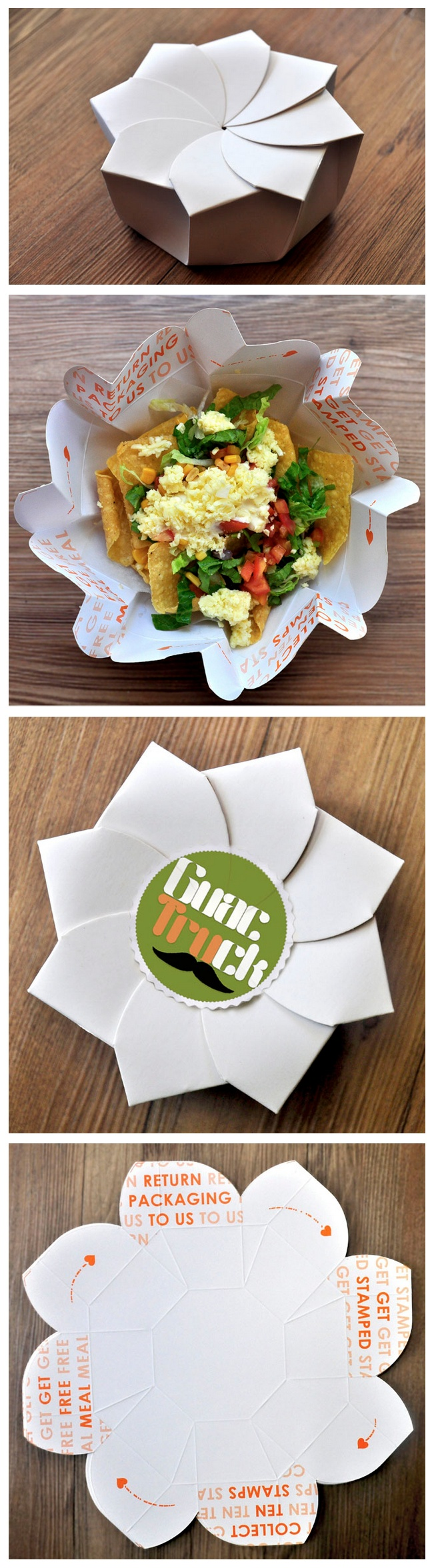 Sustainable Origami Food Box