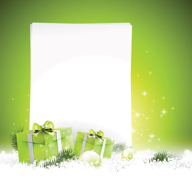 Christmas Gift Background: Free Vector Beautiful Merry Christmas Gift Box And Ball