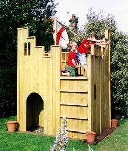 """Build a Fort Playhouse for your kids in one weekend! Get Your Free Copy of """"Playhouse Construction Tips From a Professional Contractor""""!"""