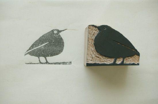 Stamp made by Seiichi Maesaki #Press Work, Design
