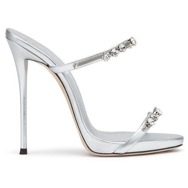 Giuseppe Zanotti Darsey Crystal ($475) ❤ liked on Polyvore featuring shoes, sandals, silver, high heeled footwear, iridescent shoes, crystal shoes, white strappy shoes and white strap shoes #giuseppezanottiheelswhite