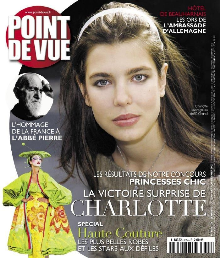 Charlotte Casiraghi - La couverature de POINT DE VUE  31 janvier--07 fevrier  2007