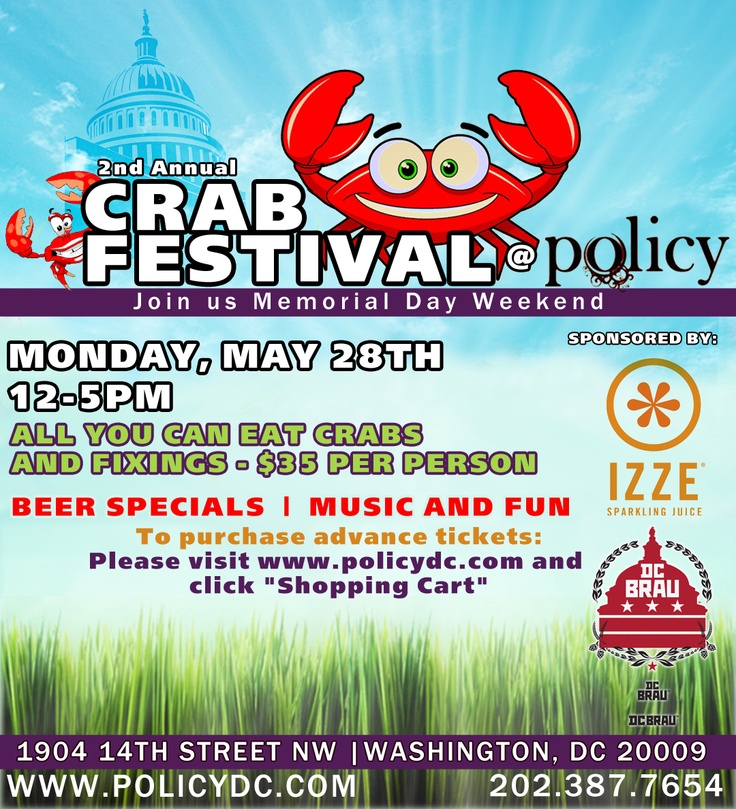 All you can eat crab this Memorial Day - OJBG's Weekend Walk-Ins | Orange Juice in Bishop's Garden – blog for the teen web series