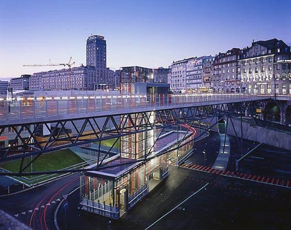 Interface Flon Train Station, Lausanne, Switzerland