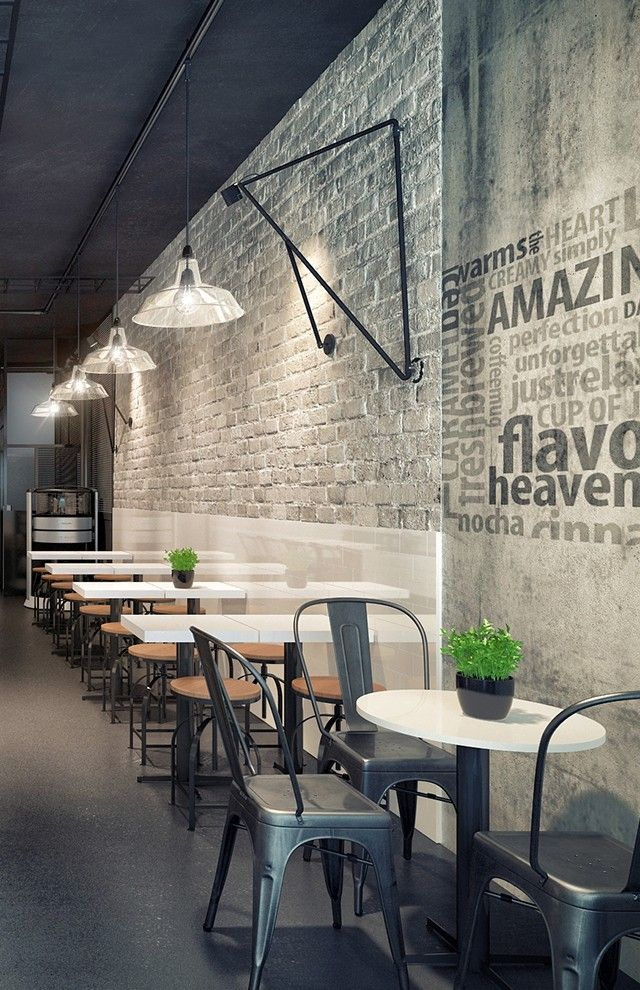 Dimensional Wall Life Giving Words On Wall Texture In 2020 Coffee Shop Interior Design Small Restaurant Design Rustic Coffee Shop