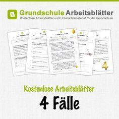 Kostenlose Arbeitsblätter und Unterrichtsmaterial für den Deutsch-Unterricht zum Thema 4 Fälle in der Grundschule.