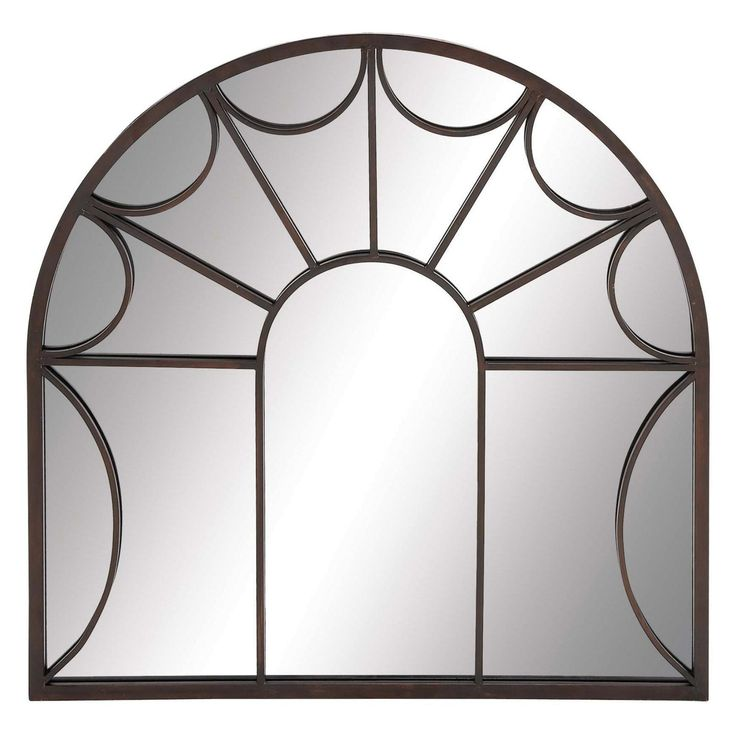 DecMode Traditional Iron Arched Wall Mirror - 53221