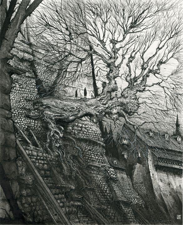 Gormenghast Tree by Ian Miller