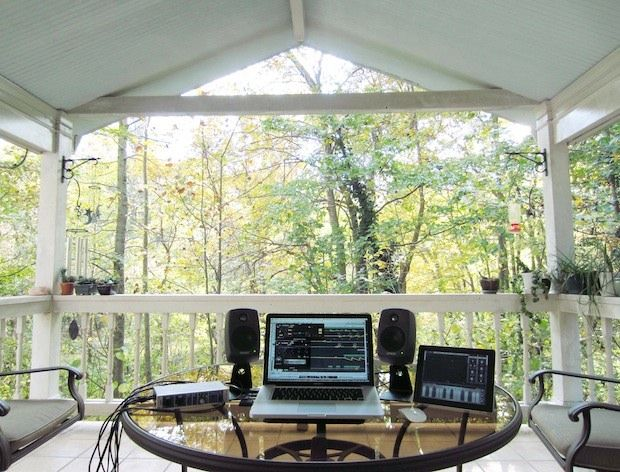 Mac Setups Back Porch Music Studio With A MacBook Pro IPad 2