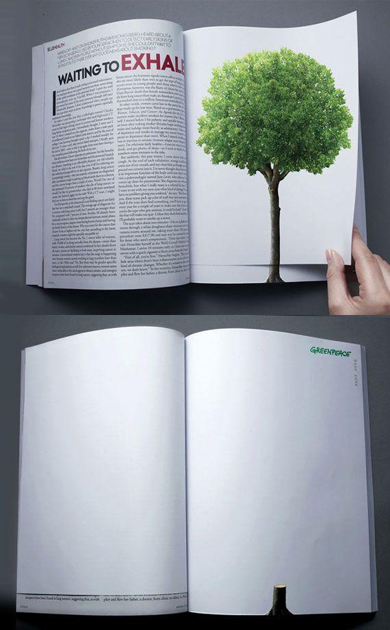 Publicidad: Una gráfica tan fuerte que ni siquiera necesita un copy. Greenpeace