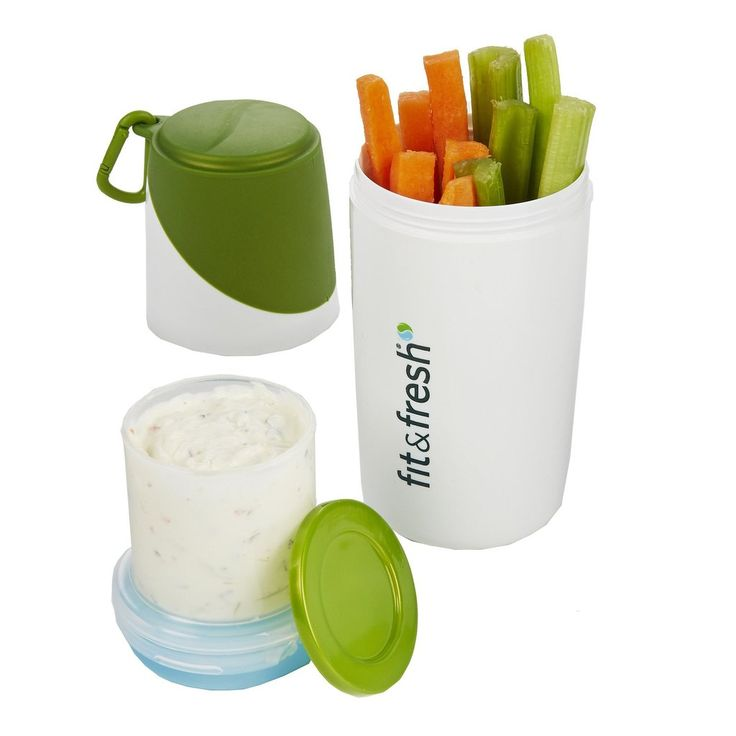 The Fit & Fresh Chilled Snack Container is a great way for adults and kids alike to enjoy a healthy snack while on the go. Whether your child needs a boost