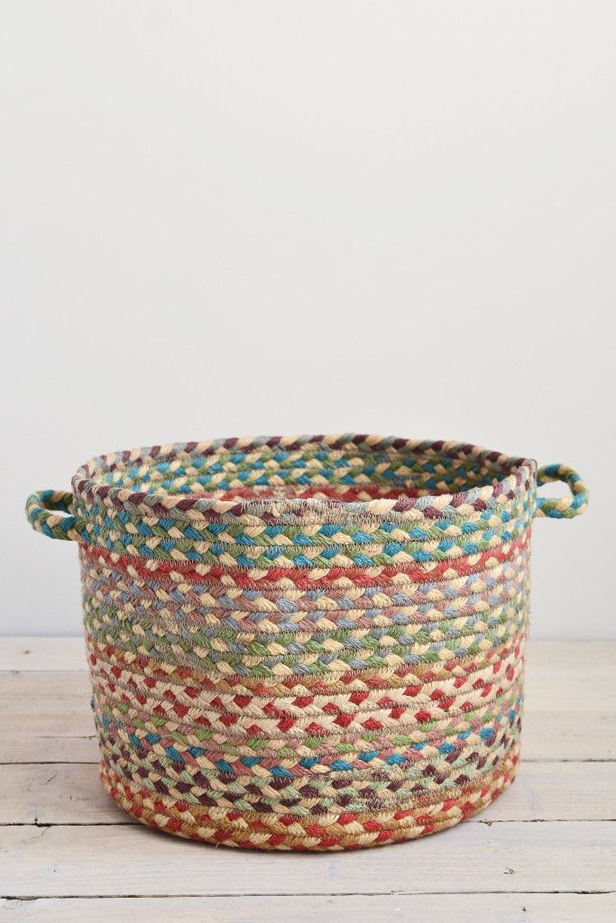 Braided utility basket: Carnival from Decorator's Notebook