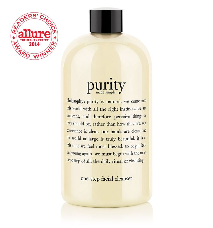 Purity Made Simple.  My favorite cleanser.  Gentle, removes all my makeup easily without burning my eyes and works great with my Clarisonic.