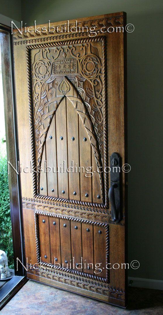 Door Into The Yoga Studio Hand Carved Door Exterior